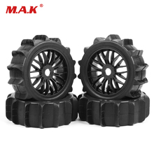 Rc 1/8Buggy Off-Road Car Tires 4pcs/set  Desert Beach Snowfield Tires Tyre Wheel Rim HPI HSP 1:8 RC Buggy Off-Road Car 4pcs 1 8 rc off road buggy snow sand paddle tires tyre and wheels for 1 8 rc car