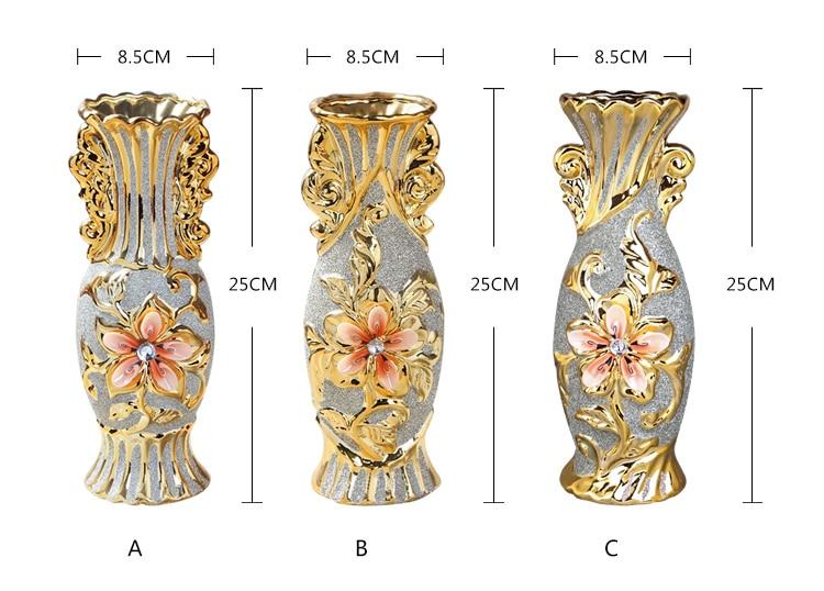 Gold Plated Ceramic Vase 4