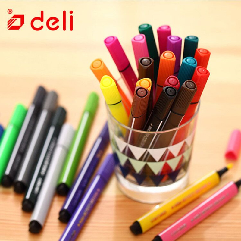 Deli 48pcs Washable Marker Artist Drawing Painting Water Color Pen Set Student Sketch Stationery School & Office Supplies 70660 deli s557 marker pen