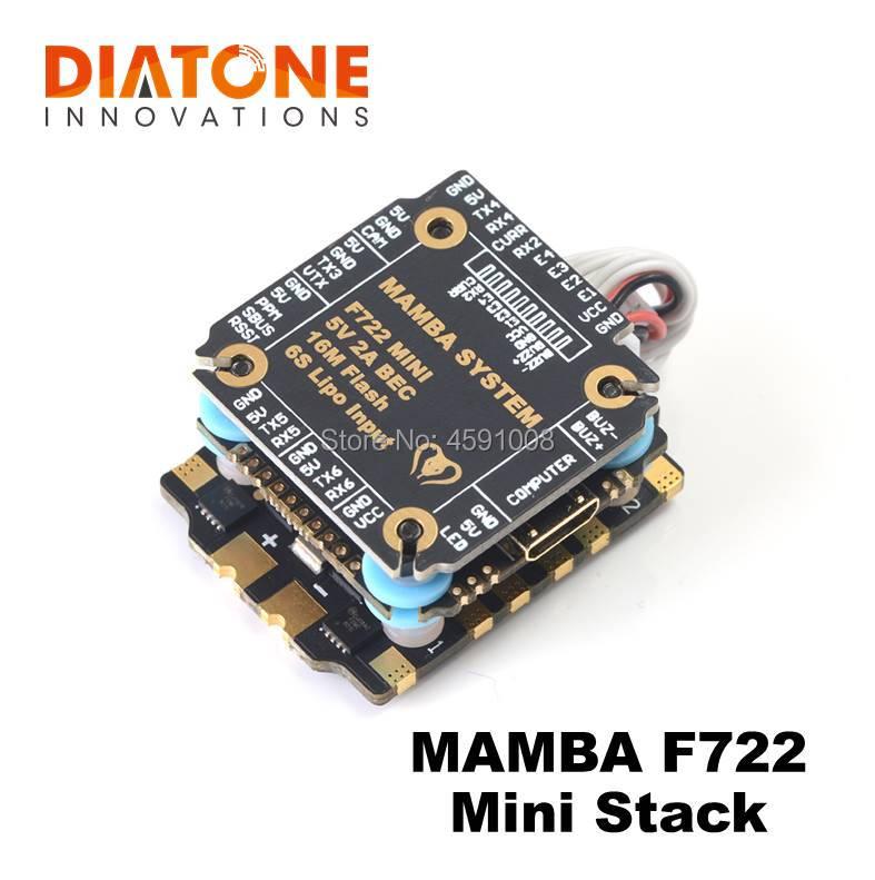 Diatone MAMBA F722 MINI Flight Controller FC STACK 2-6S Dshot 300/600/1200 FPV Racing Drone ESC For RC Accessories Quadcopter