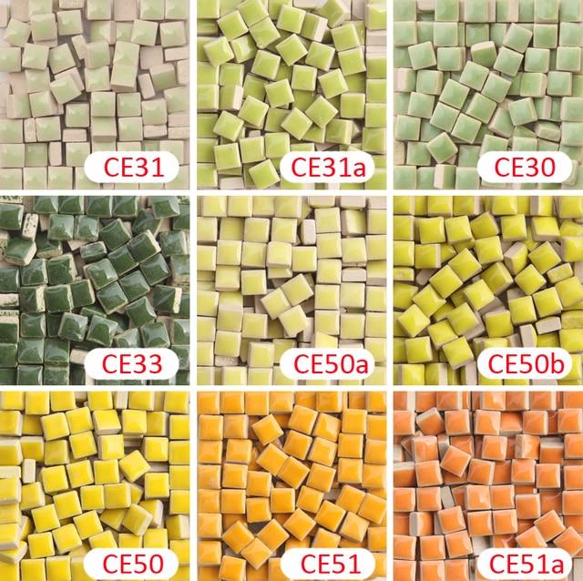 200 Gram/205 Pcs 1 X 1 Cm Square Ceramic Mosaic Tile, 9.5 X 9.5 Mm DIY  Mosaic Tile, Ceramic Tile DIY Mosaic Material Supplier