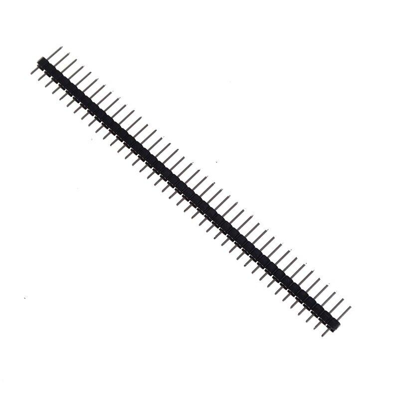 מזגנים 10pcs Single Row לוח מחשבי פין זכר הכותרת Arduino 1x40 2.54 שבירים 40 פיני רצועת PCB אלקטרוני הערכה DIY (3)