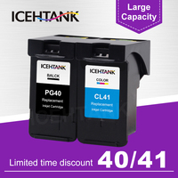ICEHTANK Remanufactured Ink Cartridge For Canon PG 40 PG40 PG40XL CL41 PIXMA iP1800 iP1200 iP1900 iP1600 Printer Ink Cartridges