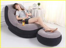 Inflatable sofa convertible sofa modern sofa bed for home use indoor,come with Inflatable pump,2 piece sofa, Hand pump