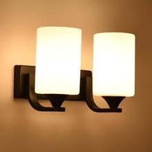 BOKT Nordic Wall Sconces Bedroom Bedside light fixture E27 90-260V Modern Led Light Single Head Or Double Lamps