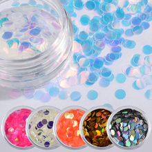 6pcs Nail Mermaid Glitter Flakes Sparkly 3D Hexagon Colorful Sequins Spangles Polish Manicure Nails Art Decorations
