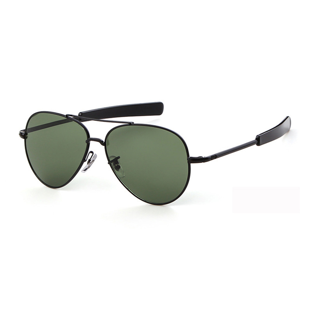 American Pilot Sunglasses US Military Bayonet Temples Wire Spatula Army Air Force Men UV400 Sun Glasses