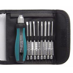 PENGGONG zestaw wkrętaków 1/4 cala 6.35mm zestaw bitów Phillips z magnetycznym narzędzia wielofunkcyjne elektroniczne narzędzia do napraw ręcznych zestaw 9 sztuk w Zestawy narzędzi ręcznych od Narzędzia na