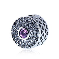 DIY Jewelry Making Fit Women Pandora Bracelet Bangle Crystal Blush Pink Radiant Splendour Charms Authentic 925