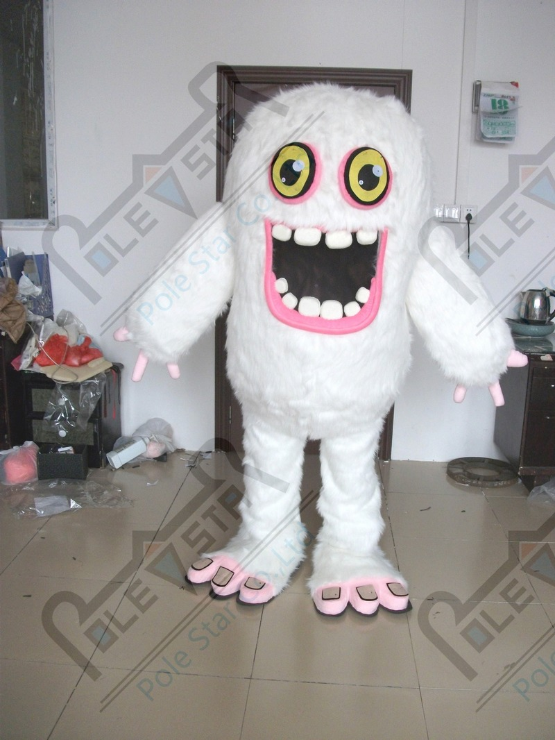 My Singing Monsters Mascot Costumes White Long Fur Monster Costumes Costume Costume Costume Mascotcostumes Monsters Aliexpress