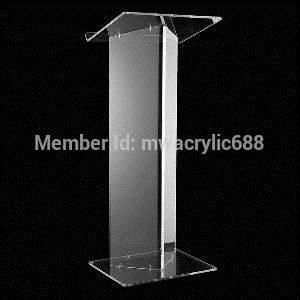 Free Shipping Hot Sell Deluxe Beautiful Modern Design Cheap Clear Acrylic Lectern Podium Plexiglass