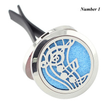 Wholesale New Car Perfume Locket Vent Clip 30mm 316L Stainless Steel Round Shape Magnetics Car Amoratherapy Diffuser Lockets