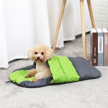 Waterproof Cat Dog Sleeping Bag Foldable Puppy Cave Bed  Pet Warm Soft Mat Cushion For Travel Or Indoor Supplies