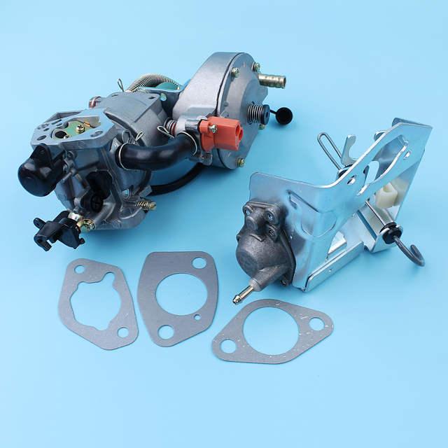 US $59 99  Carburetor Auto Choke Pump Dual Fuel Conversion Kit For Honda  GX390 GX340 188F 4 5 5 5KW Generator Engine LPG/CNG/Gasoline Carb-in