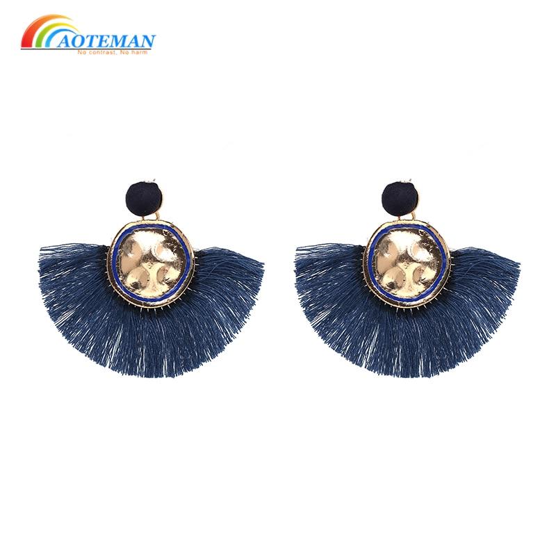 Handmade High Quality Long Drop Dangle Fringed Earrings Women boheme pendientes Boho Trendy Jewelery Tassel Earrings