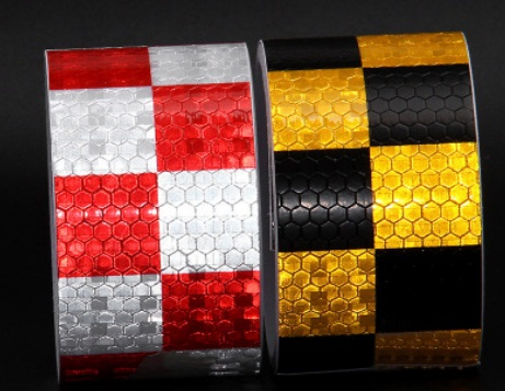 5cmx3m block Safety Mark Reflective Tape Stickers Car Styling Self Adhesive Warning Tape Automobiles Motorcycle Reflective Film