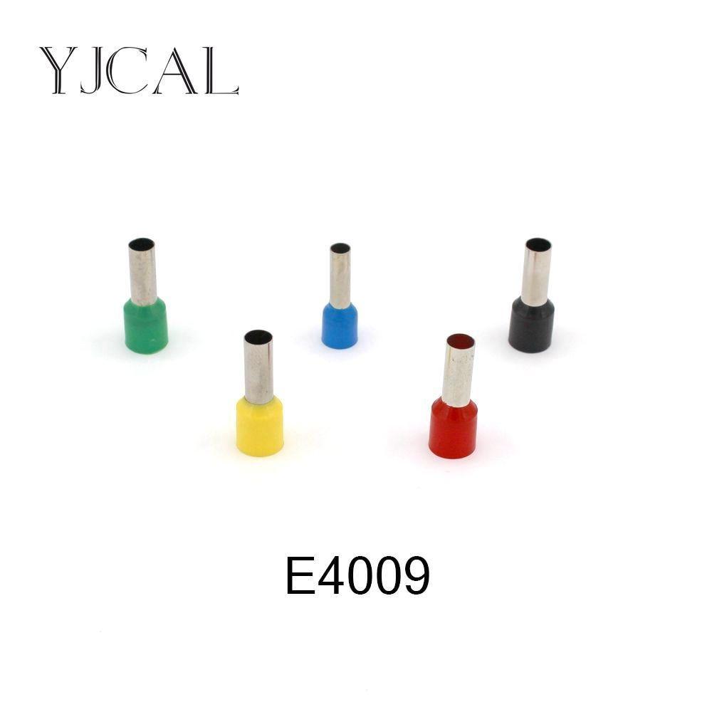 1000 unidades/pacote e4009 isolado cabo terminal terminal de friso conector fio friso virolas terminais de friso tubular