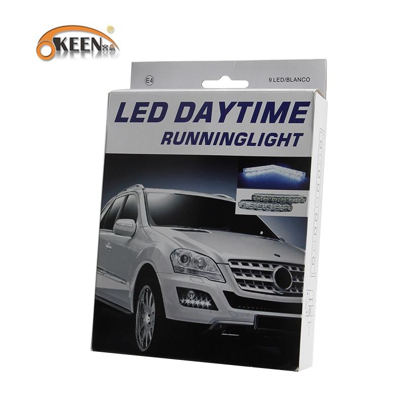 OKEEN 2PCS Kereta LED Daytime Running Lights DRL 6 LED DC12V 6000K - Lampu kereta - Foto 6