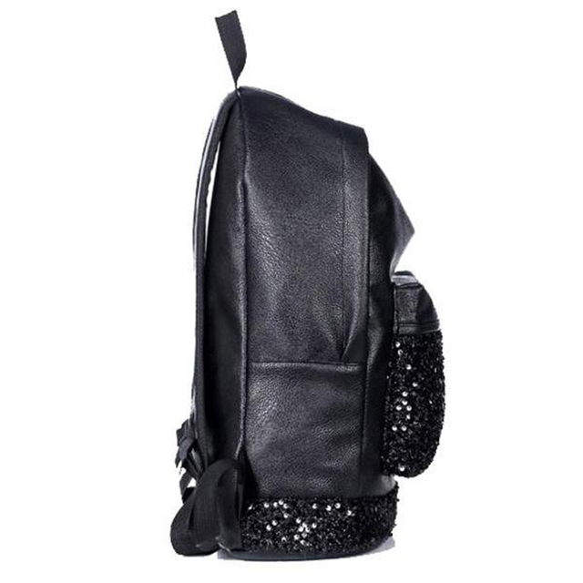 0cc7f0506f5 ... Big Crown Embroidered Sequins Backpack Wholesale Women Leather Backpack  School Bags. Previous