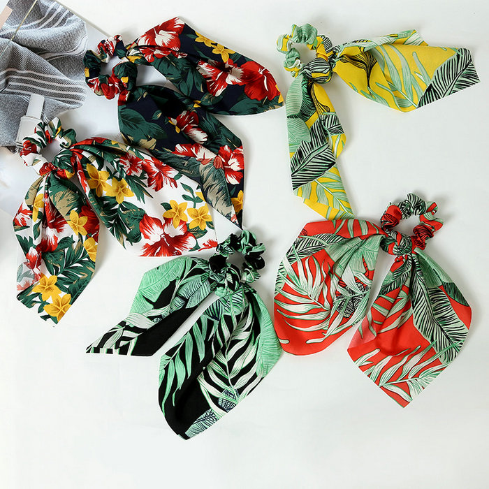 women children hairwear fashion hair rings Newest Fashion Creative Scarf Hair Ring Printed Fabric Butterfly Tie Hair Ornament in Women 39 s Hair Accessories from Apparel Accessories