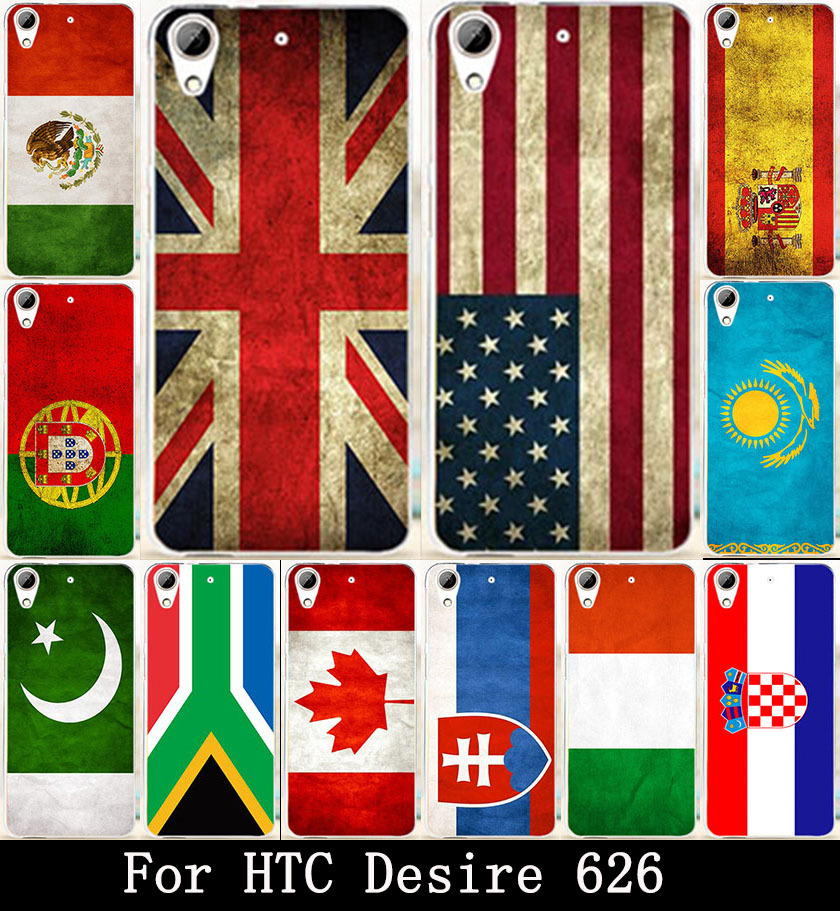 Retro National Flag Russia Phone Covers Cases For HTC Desire 626 628 650 Case 626w 626D 626G 626S Housing Bags Skin Shell Hood