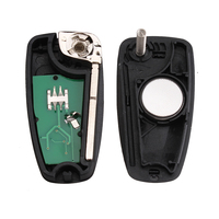 1PC Folding Flip 3 Buttons Remote Car Key Fob With 63 Chip 433mhz For Ford Focus