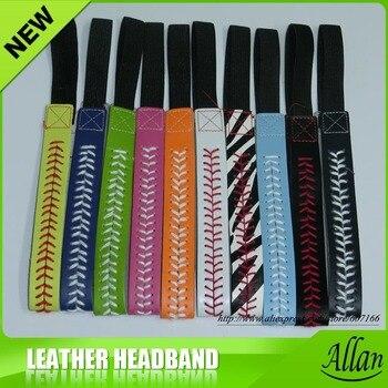Wholesale leather softball headbands