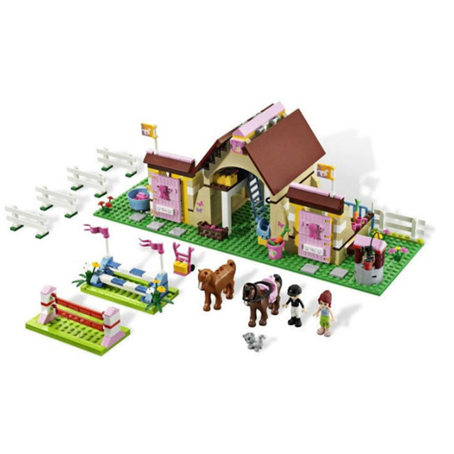 400pcs Bela 10163 Building Blocks Friends Series HeartLake Stables Mia's Farm Horse Girls Compatible With Legoe brinquedos ковер stables