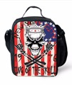 Punk Style Skull Print Portable Lunch Bags For Kids Insulated Lunch Box Cooler Thermal Food Lunch Bag Bolsa Termica