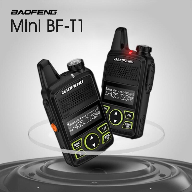 Baofeng BF-T1 Portable Écouteurs Talkie Walkie Set Avec De Poche Hôtel Civile Radio Comunicacion Jambon HF Émetteur-Récepteur