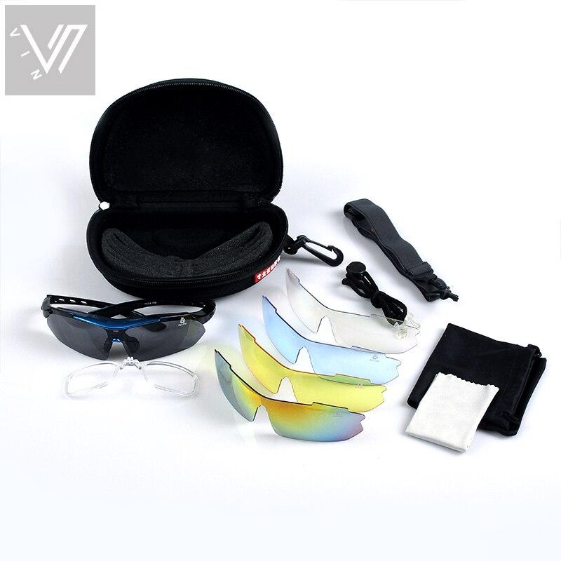 Polarisierte Sonnenbrille 5 Satz Wechselgläser Brillen Gafas Oculos - Bekleidungszubehör - Foto 3