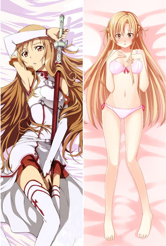 Sword art online Asuna Dakimakura / Hugging Pillow Case #1008(full color) - zou wenfeng's store