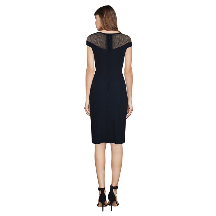 Cou Rayon Sans Manches Femmes 2018 Bandage Glissière Partie Sexy Maille Celebrity Top Robe O Qualité À Moulante Noir Robes Fermetures 8zwRxZPn