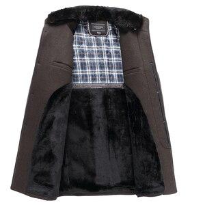 Image 4 - Automne hiver hommes manteau en laine nouvelle mode col montant chaud penser veste manteau solide décontracté laine Trench manteaux hommes