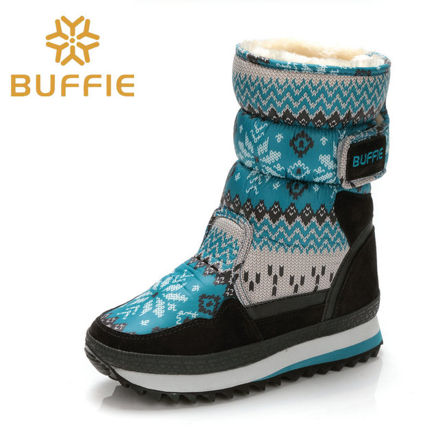 Snow flake flower boots new beautiful warm girl boots long plush fur antiskid outsole Buffie Brand high quality free shipping ho