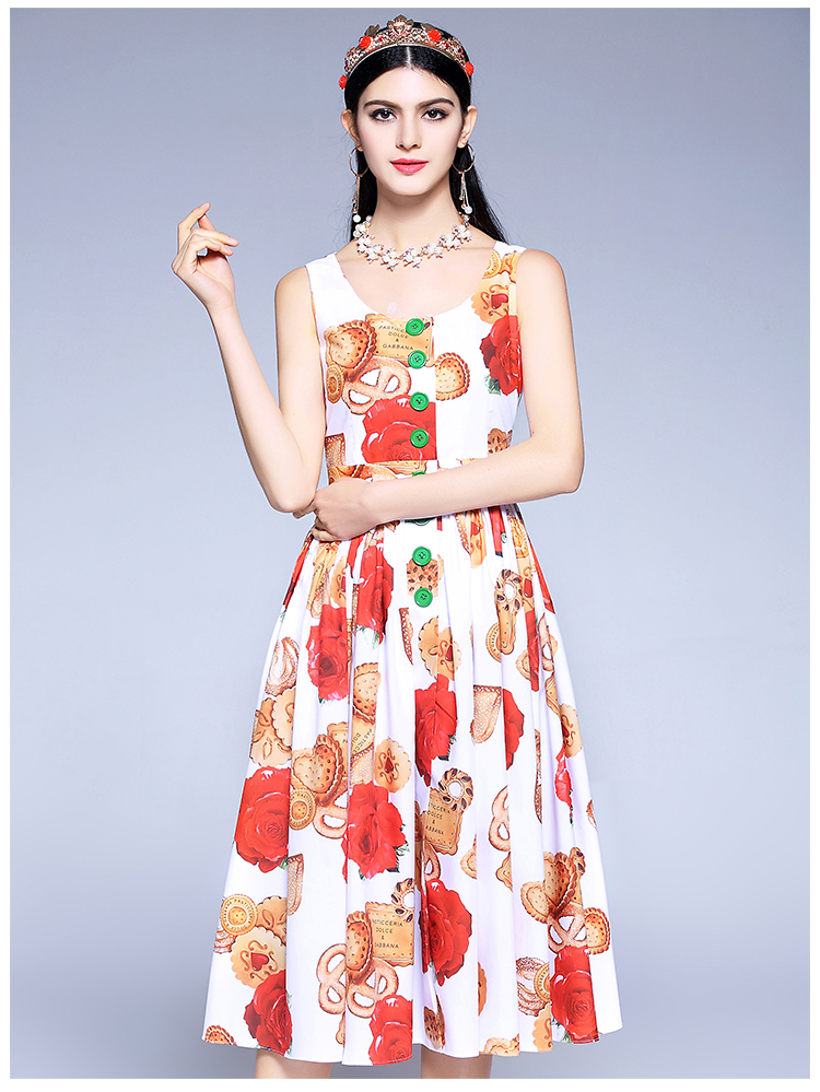 faa9c9a5344 Fashion Runway Designer Summer Dress 2018 Women s High Quality ...