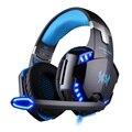 Kotion each g2200 gaming profesional auriculares estéreo diadema juego usb7.1 auriculares pc gamer respiración luz led mic vibración
