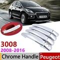 Для peugeot 3008 2008 ~ 2016 хромированные дверные ручки крышки наклейки на автомобиль отделка комплект 2009 2010 2011 2012 2013 2014 2015