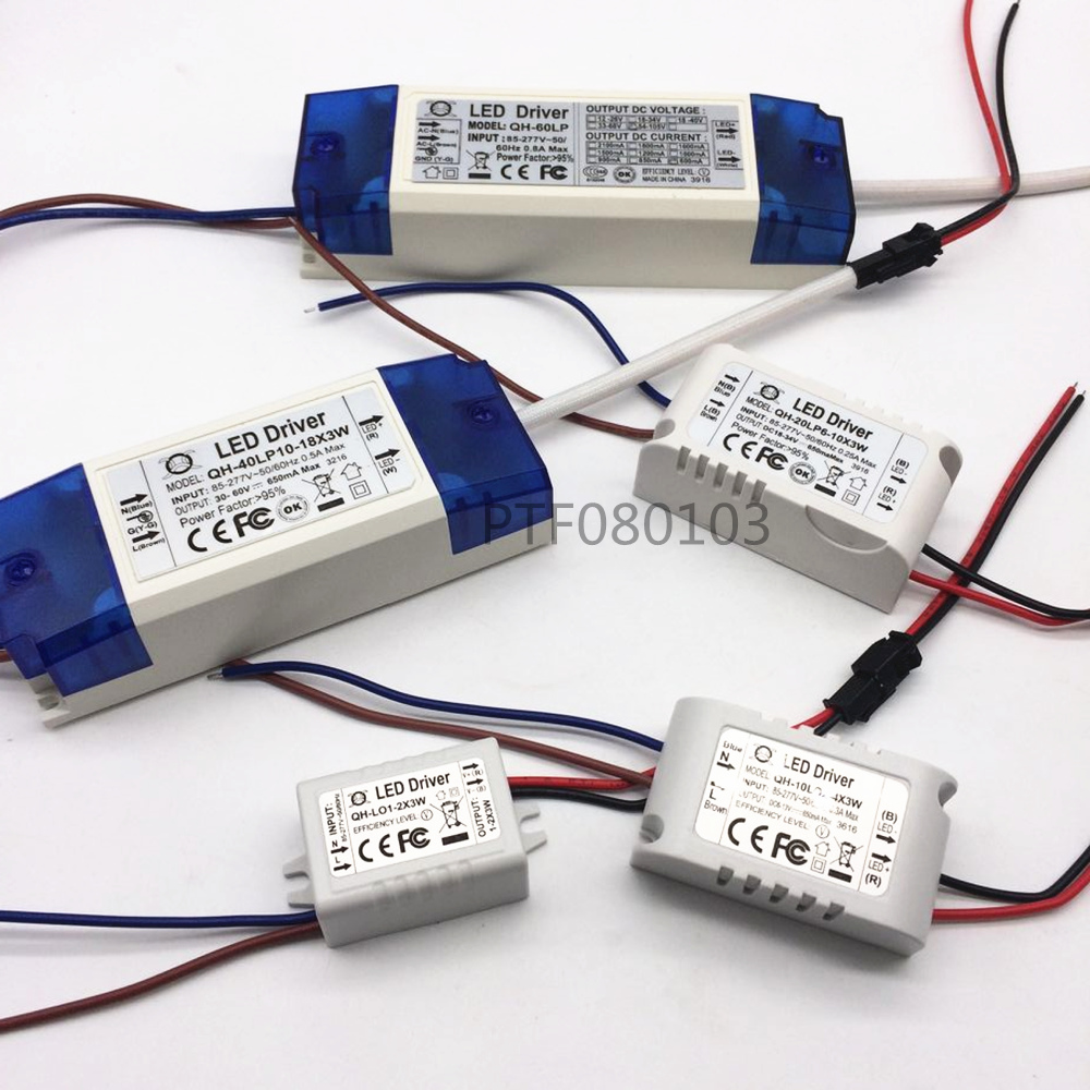 AC 85-265V 1-3x3w 2-4x3w 6-10x3w 10-18x3w 18-30x3w 600mA 650mA LED Driver Power Supply Transformer Light Power Supply F 3w LED