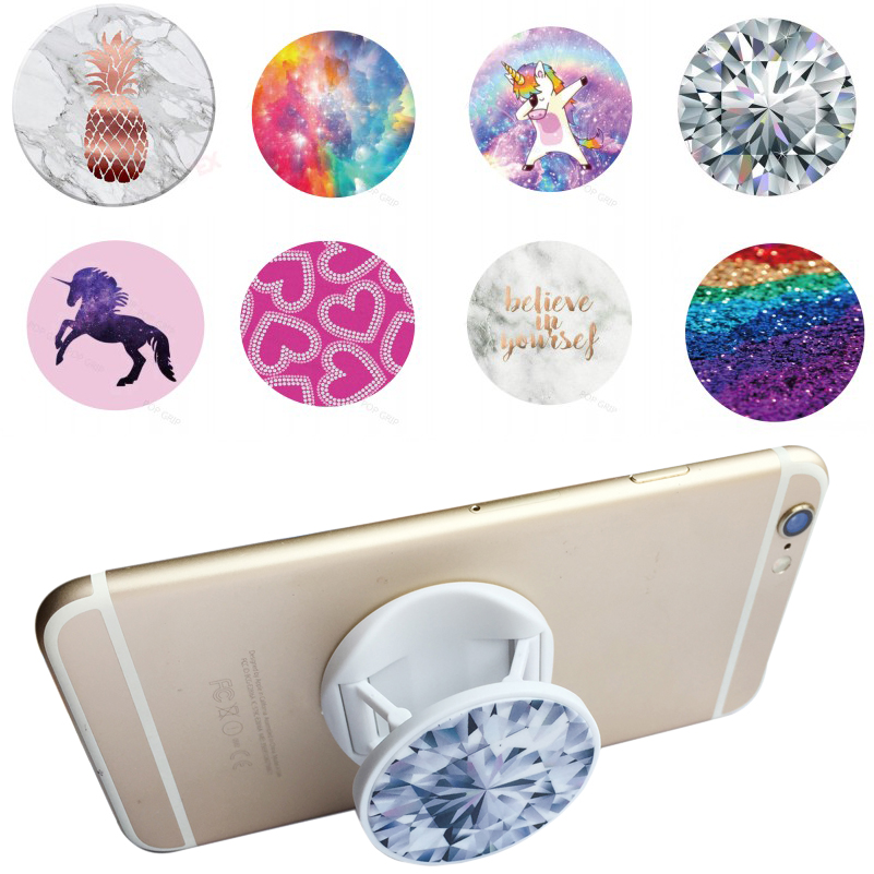 Mobile Phone Holders & Stands Charitable Phone Stand And Grip Marble Unicorn Design Lazy Cells Hand Finger Folding Holder Grip Mount For Iphone Xs Max Lustrous