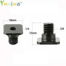 """10pcs/lot 3/8 inch 1/4 inch Black/silver Screw Metal 3/8"""" to 1/4"""" Convert Screw Adapter for Tripod & Monopod With Hot Shoe"""