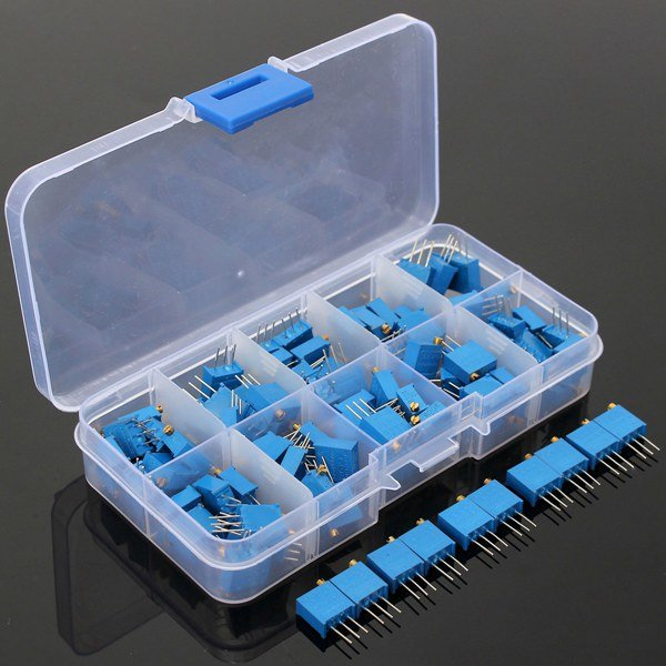 10 Value 100pcs  Trimmer Resistor Trim Pot Potentiometer Kit