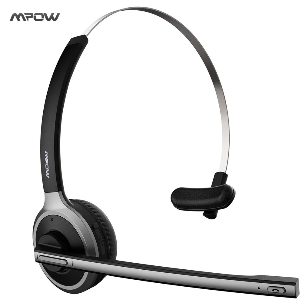 2017 neue Mpow Bluetooth 4,1 Headset Over-the-kopf Noise Cancelling-kopfhörer für Lkw Autofahrer Anruf zentrum, büro