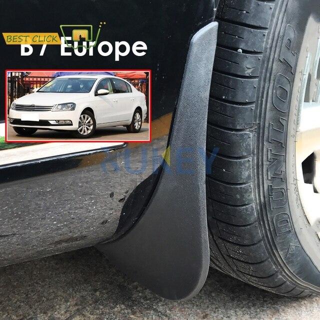 واقيات الطين للسيارة مصبوبة من الأمام والخلف لأوروبا VW Passat B7 2011 2014 2012 2013 واقيات الطين والرذاذ واقيات الطين