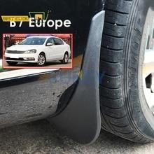 フロントリア成形車の泥フラップ欧州vwパサートB7 2011 2014 2012 2013 mudflapsスプラッシュガード泥フラップマッドガードフェンダー
