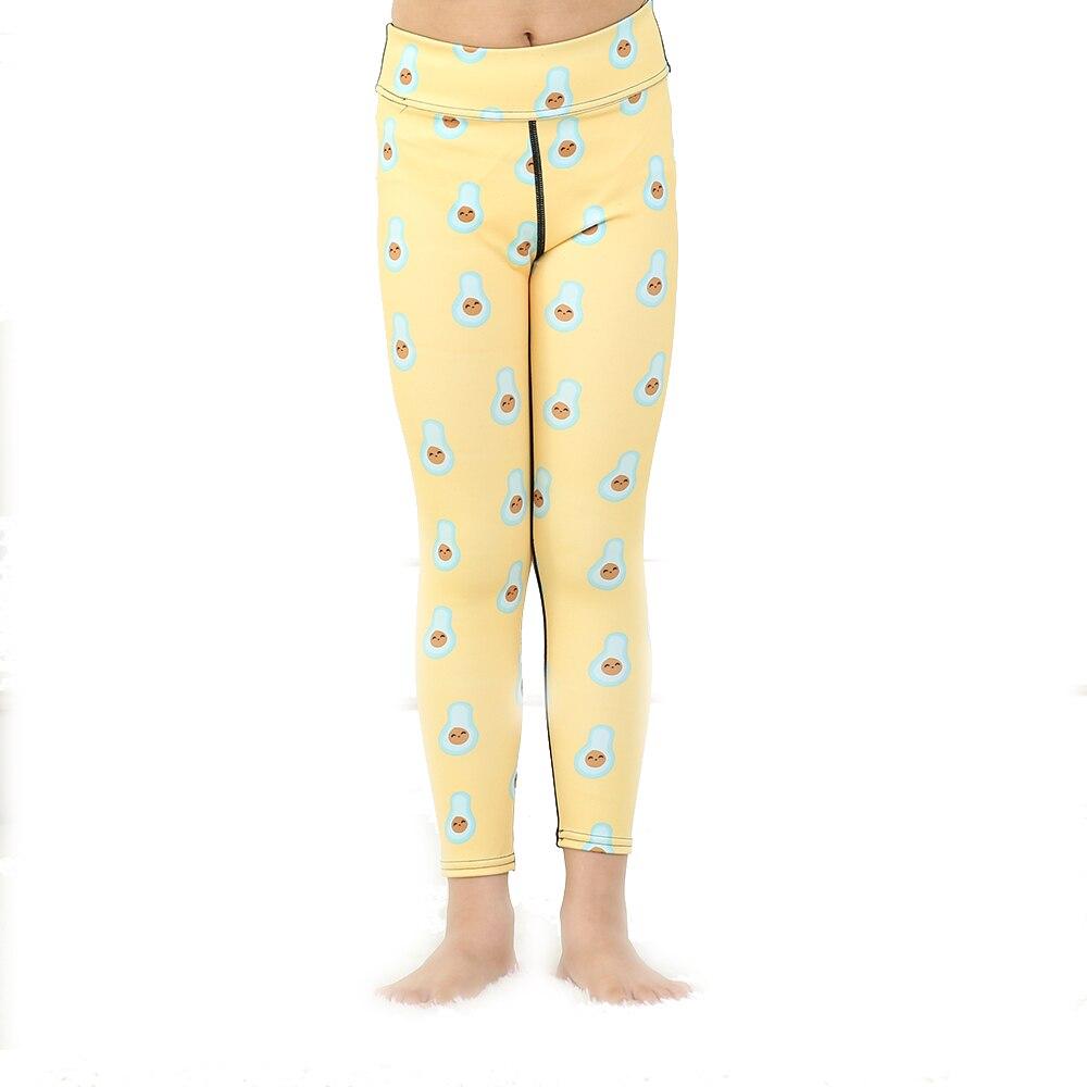Love Spark Kids Dot Print Yellow Yoga Gym Elastic Sports Pants Fast Dry Running Jogging Sport Leggings For School Girls