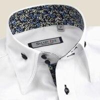 2017 New Fashion White Shirt Men Smart Five Brand Clothing Summer Short Sleeve Cotton Men S