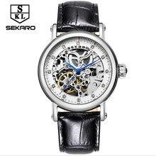 2017 new ladies mechanical watch, leather strap Swiss high-grade automatic watch, hollow waterproof fashion ladies watch