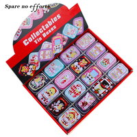 Cute Cartoon Tin Storage Box Small Mac Makeup Organizer Mini Tea Container Jewelry Storage Box Pill
