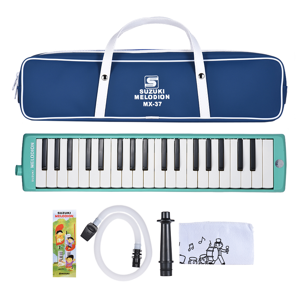 SUZUKI MX 37D 37 Key Melodion Melodica Pianica Musical Instrument with Long Short Mouthpiece Carry Bag